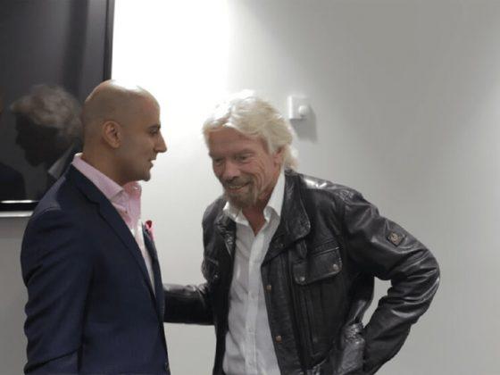 Richard Branson with Aaron Sansoni